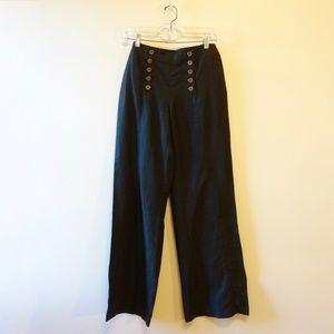 90s does 70s Linen Sailor Pants